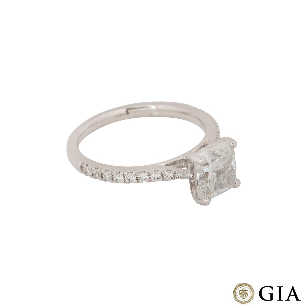 White Gold Cushion Cut Diamond Ring 1.81ct F/VS2